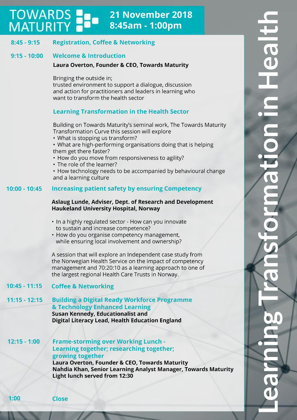 Learning Transformation in Health Agenda